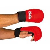 KWON rukavice volný palec červené