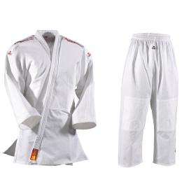 Kimono na Judo DANRHO YAMANASHI bílé s nášivkami